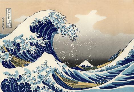 Fototapete - Die große Welle vor Kanagawa