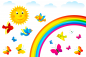 Preview: Regenbogen Fenstersticker