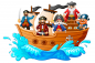 Preview: Pirate Ship Window Sticker