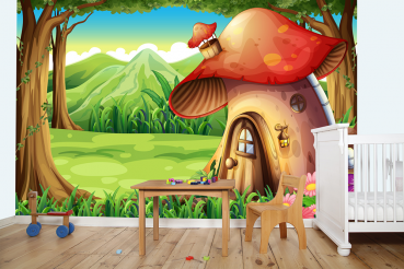 Mushroom House Photo Wallpaper