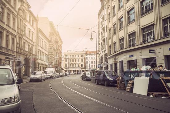 Street in Berlin Photo Wallpaper