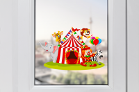 Circus Window Sticker