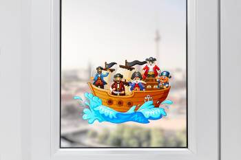 Pirate Ship Window Sticker