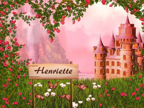 Personalisierbare Fototapete Prinzessinnenschloss Schloss Namensschild Name