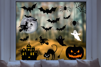 Pixblick Fenstersticker - Riesiges Halloween Stickerset